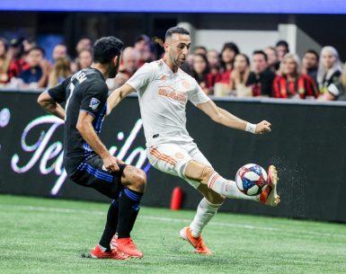 Justin Meram MLS Soccer Player for Atlanta United scored 2 goals versus Montreal