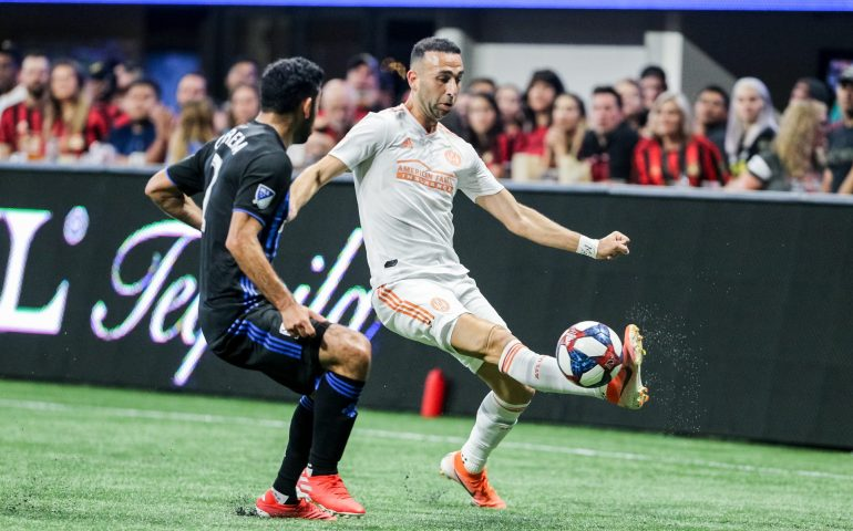 Justin Meram MLS Soccer Player for Atlanta United scored 2 goals versus Montreal