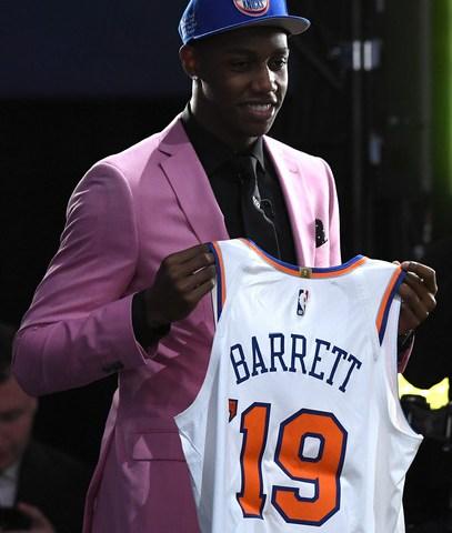 RJ Barrett 2019 NBA Draft to the New York Knicks
