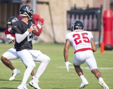 Matt Ryan throws a pass during training camp 2019 #NFL, #dirtybirds, #falcons, #inbrotherhood, #atlantafalcons, #ATL, #ASN