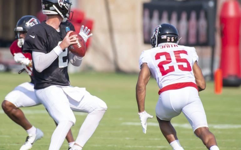 Matt Ryan throws a pass during training camp 2019 #NFL, #dirtybirds, #falcons, #inbrotherhood, #atlantafalcons, #ATL, #ASN