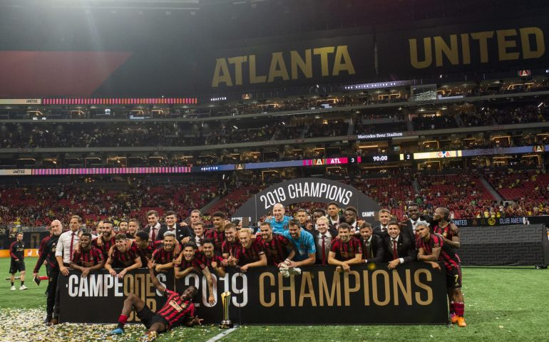 Atlanta United celebrates winning Campeones Cup over Club America