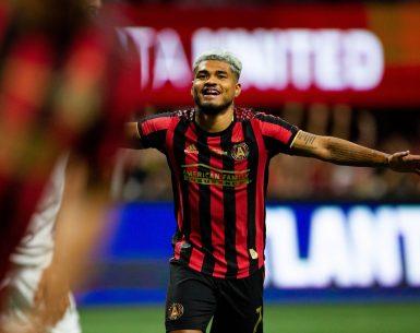 Josef Martinez celebrates Atlanta United winning the US Open Cup Tuesday night.