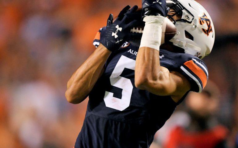 Anthony Schwartz catches a touchdown against Mississippi State#WarEagle, #AUNextLevel, #auburn, #auburntigers, #secfootball