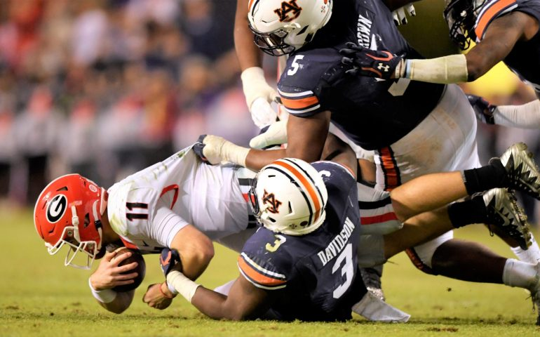 Auburn Tigers knock the Georgia Bulldogs out of cruise control but still lost 21-14