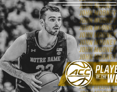 Mooney, Nolley II Earn ACC Men's Basketball Players of he week