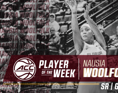FSU's Woolfolk, UNC's Tshitenge Earn ACC Women's Basketball Weekly Honors #ACCWBB
