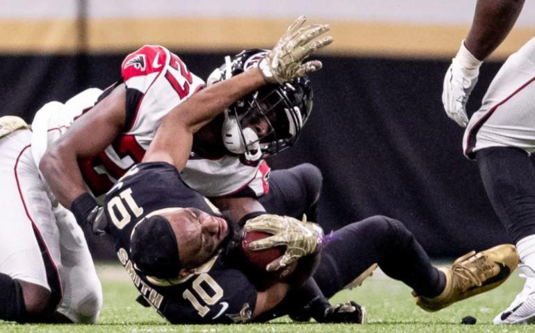 Atlanta Falcons knocked off the New Orleans Saints 26-9