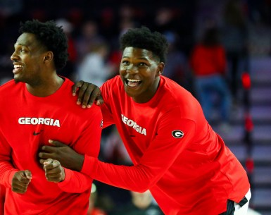 UGA Georgia bulldogs Basketball sings four players