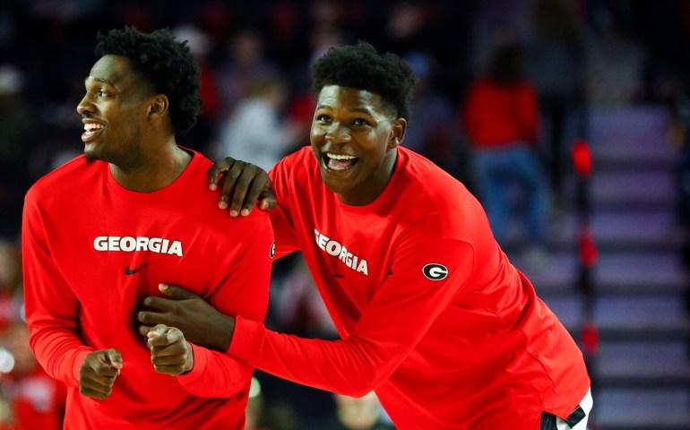 UGA Georgia bulldogs Basketball sings four players