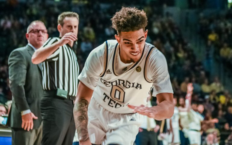 Michael Devoe Georgia Tech Basketball has a great game against Nebraska #togetherweswarm, #404theculture, #yellowjackets, #Georgiatech