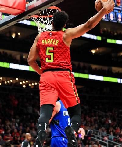 Jabari Parker throwing it down for a dunk#TruetoAtlanta, #AtlantaHawks, #Hawks, #ATL,