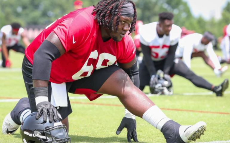 #Falcons, Jamon Brown offensive lineman Atlanta Falcons