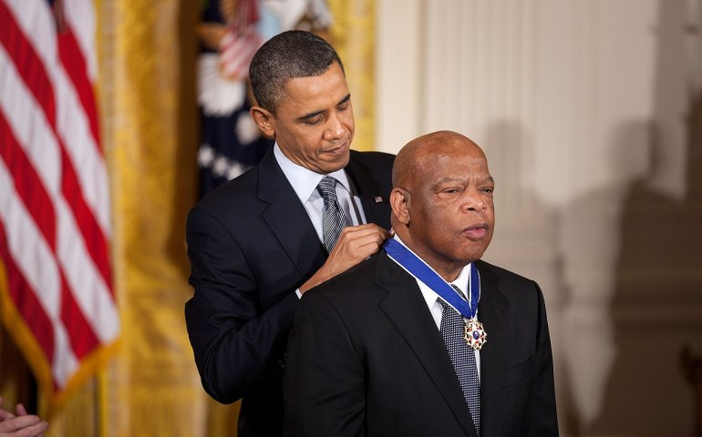 #chic-Fil-A, #peachbowl, President Obama honors Congressman John Lewis