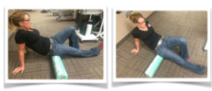Glute Roll with foam roller