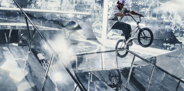 BMX Stars create stunning bike park made of mirrors