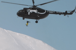 Crazy Russian Skier Jumps Into Volcano From Helicopter