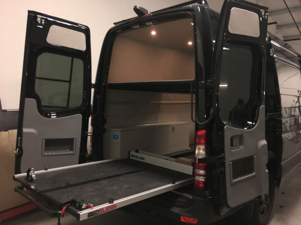 Bed Slide Systems Give You Smooth Access to Your ActionVan's Cargo