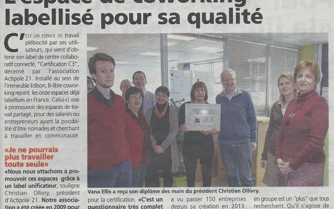 Remise du label à B-Libre le 3 mars 2016, Guyancourt, 78