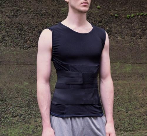 recoveryaid elite 2.0 mens posture training shirt