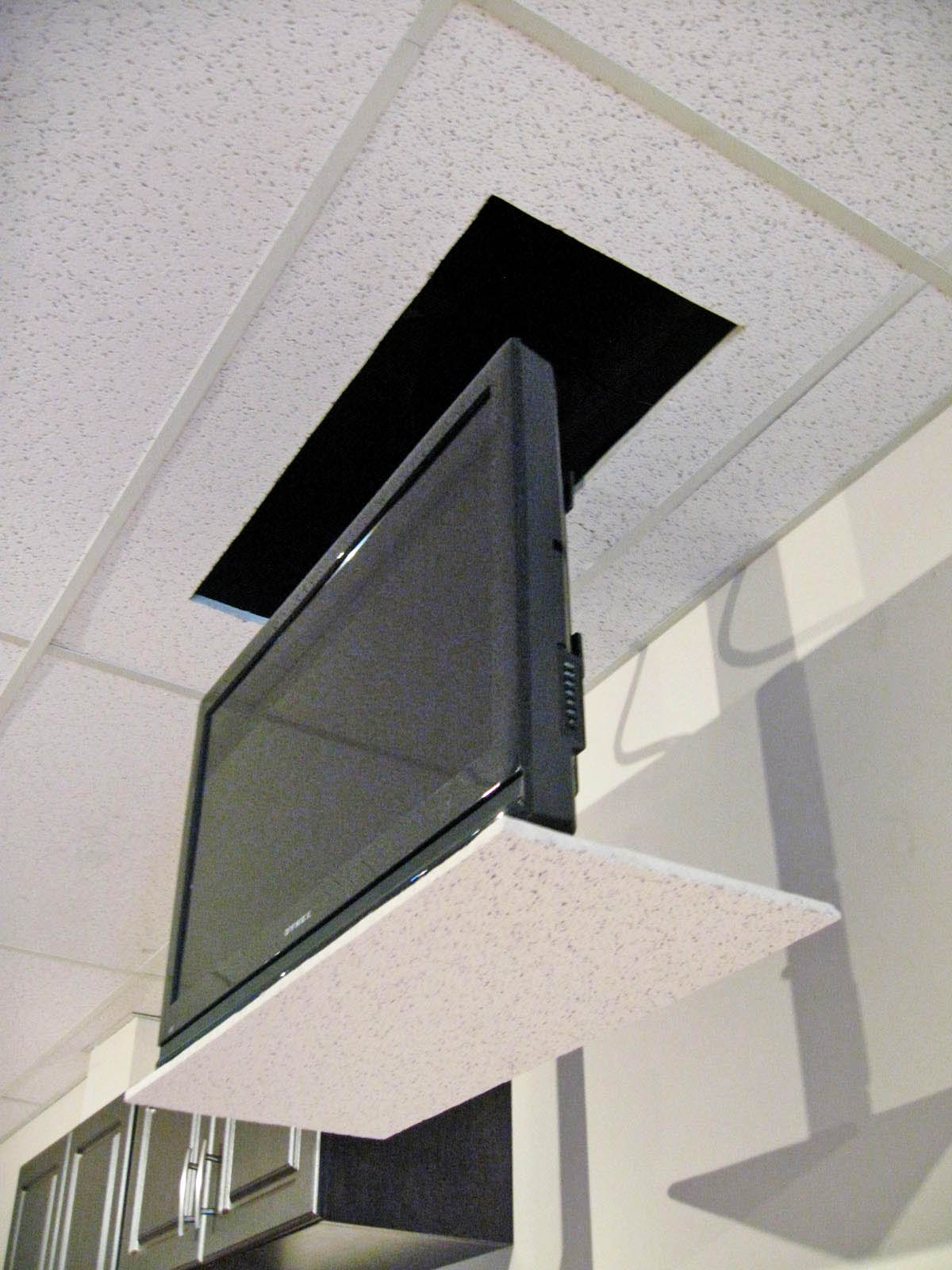 TeleLIFT M385 R Drop Down TV Lift  Activated Decor