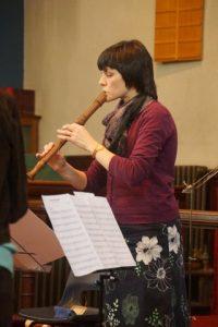 Jennifer Mackerras (teaches Alexander Technique in Bristol) playing recorder