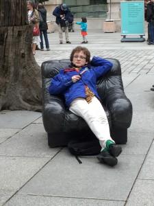 sitting comfortably