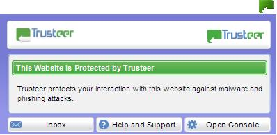 On protected websites you can click the green Rapport icon for more information about the forms of protection provided by Rapport for that website.