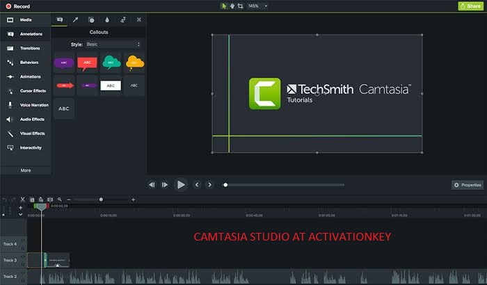 Camtasia Studio 2019.0.9 Crack + Serial Key Free Download