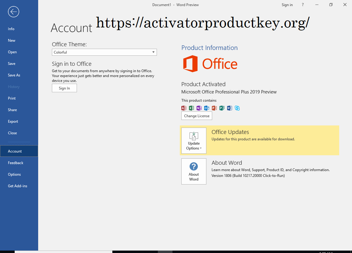 Chave para office 2019 Download + Cracked Version