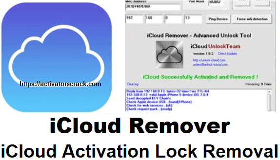 iCloud Remover 1 0 2 Crack Full Version Activation Free Get All