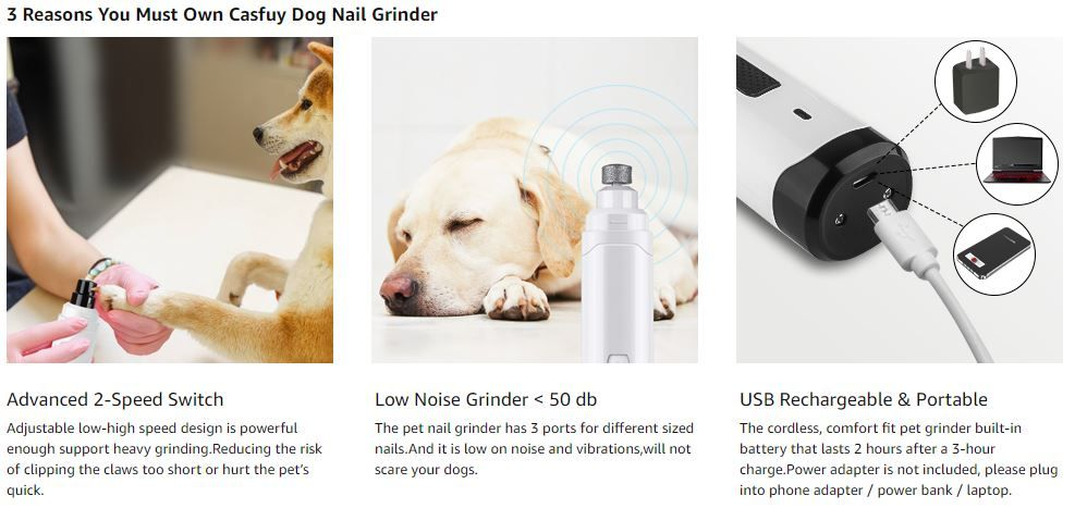 Casfuy Dog Nail Grinder Upgraded 1
