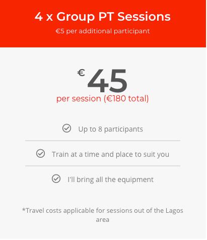 Group Training (€45)