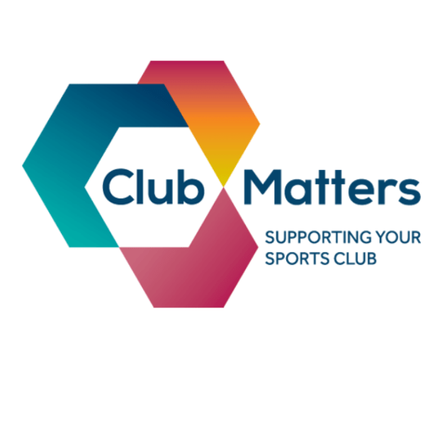 Club Matters Logo made of overlapping hexaganol shapes