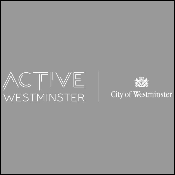 Full white ActiveWestminster Logo