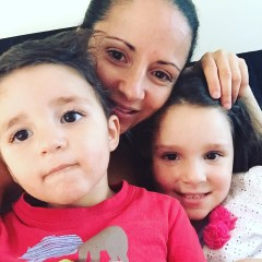 Loudy with her 2 children, Layla and Alexander