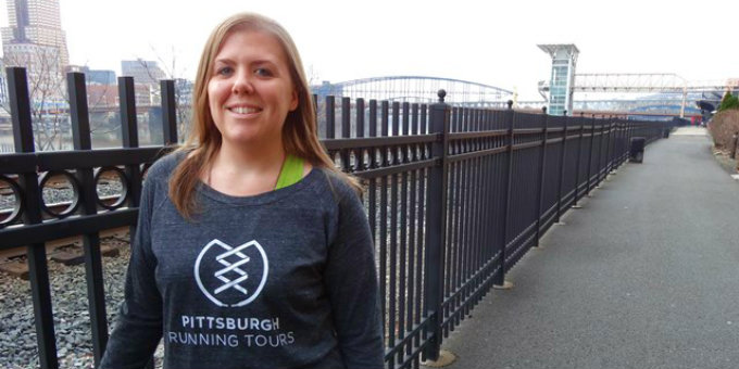 Trisa Yerks leads guided tours through various Pittsburgh neighborhoods and attractions.