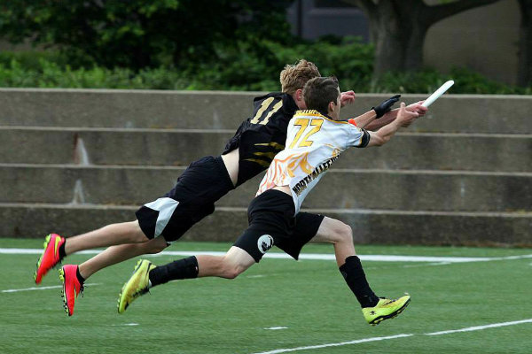 a game of ultimate frisbee is played at a stadium in pittsburgh pennsylvania