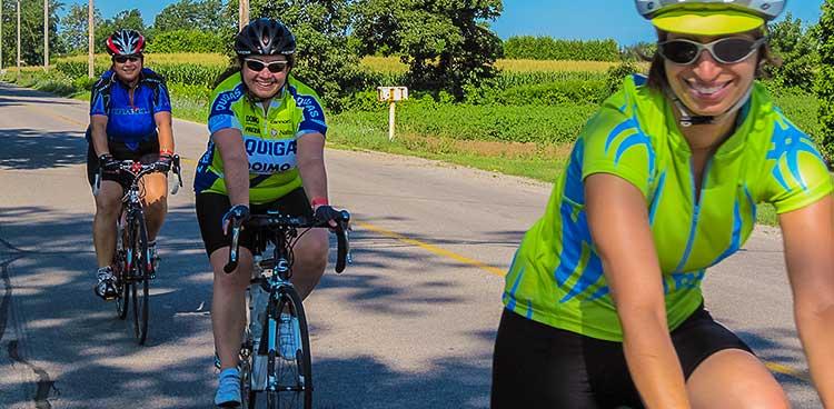 Tour de Norfolk cyclists