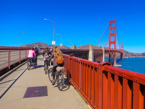 Cycling Golden Gate Bridge