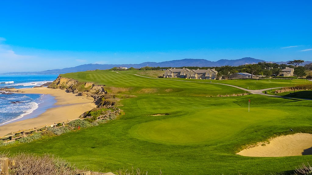 Half Moon Bay Golf Links Hole 18 The Old Course