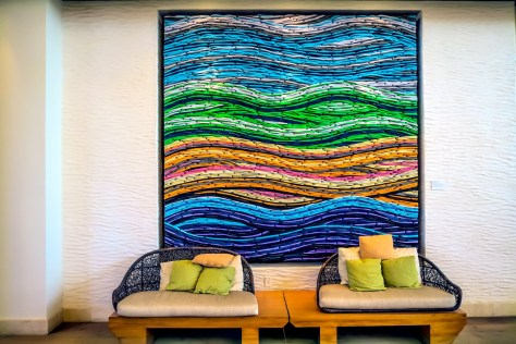 """Wavelength 4"" by Jorge Dubin, Pasea Hotel & Spa Lobby"
