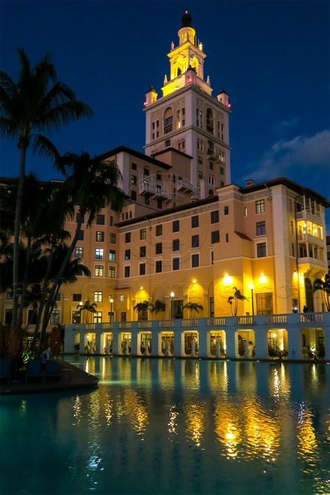 Biltmore Hotel Pool at night