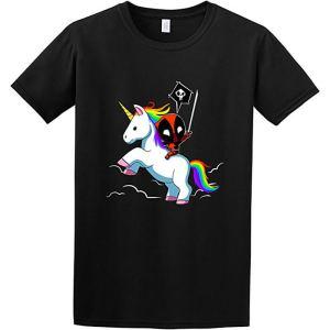 Deadpool Riding a Unicorn T-Shirt