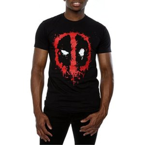 Deadpool Splat Face T-Shirt Black