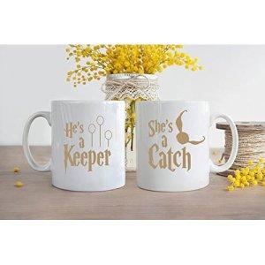Harry Potter He's a Keeper She's a Catch Mug
