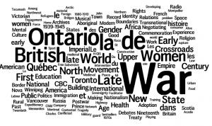 CHA 2012: University of Waterloo Keywords: War, Ontario, British, Early, Women
