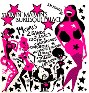 Yonge Street striptease ad, 1971.