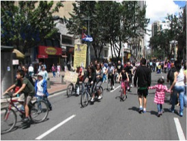 Ciclovia in Bogota. Photo courtesy of Mike's Bogota Blog