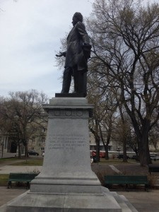 Statue of George-Etienne Cartier in Parc Montmorency (Quebec City)